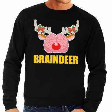Foute kersttrui braindeer zwart voor heren