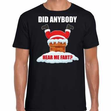 Fun kerstshirt / outfit did anybody hear my fart zwart voor heren
