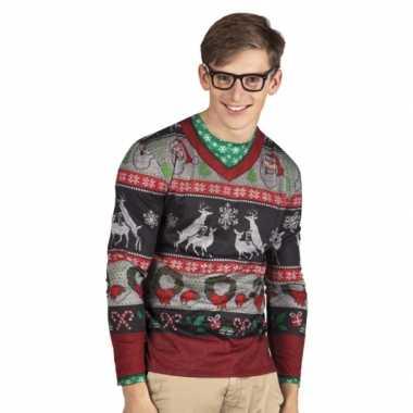 Kersttrui Heren.Kersttrui Opdruk Herenshirt Kerst Shirt Nl