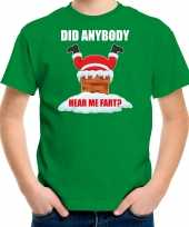 Fun kerstshirt outfit did anybody hear my fart groen voor kinderen