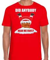 Fun kerstshirt outfit did anybody hear my fart rood voor heren