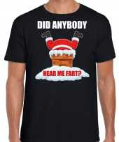 Fun kerstshirt outfit did anybody hear my fart zwart voor heren