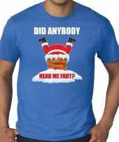 Grote maten fun kerstshirt outfit did anybody hear my fart blauw voor heren