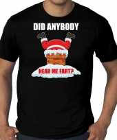 Grote maten fun kerstshirt outfit did anybody hear my fart zwart voor heren