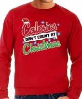 Grote maten rode foute kersttrui sweater calorieen tellen niet tijdens kerst voor heren