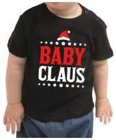 Kerstshirt baby claus zwart peuter jongen meisje