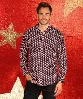 Nette kerst overhemd voor heren