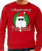 Rode foute kersttrui sweater ask your mom voor heren