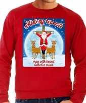 Rode foute kersttrui sweater history repeats too voor heren
