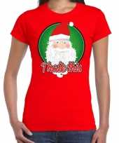 Rood fout kerstshirt t shirt i hate this voor dames
