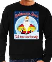 Zwarte foute spanje kersttrui sweater christmas in spain we know how to party voor heren